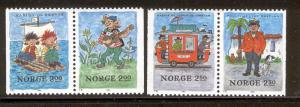 NORWAY 850-853 MNH CHILDREN STORIES 1984