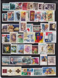 CANADA 50+ DIFFERENT COMMEMORATIVES STAMPS USED LOT#48