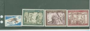 Andorra (French) 184-187 Mint VF NH