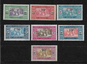 Senegal 1924-27, Surcharged, Scott # 131-137, VF MLH*OG (FR-1)