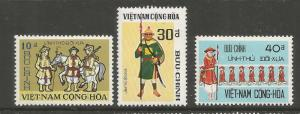 VIET NAM  433-435  MINT HINGED,  HISTORIC FRONTIER GUARDS
