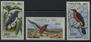 Mali Birds Airmails 100 to 500 francs mint o.g.