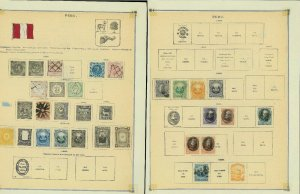 Peru 1858-1951 M & U Hinged & in Mounts on a Mix of Remaindered Pages.