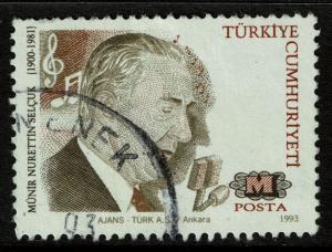 Turkey 2579  Used - Music Composer M N Selcuk - 1993