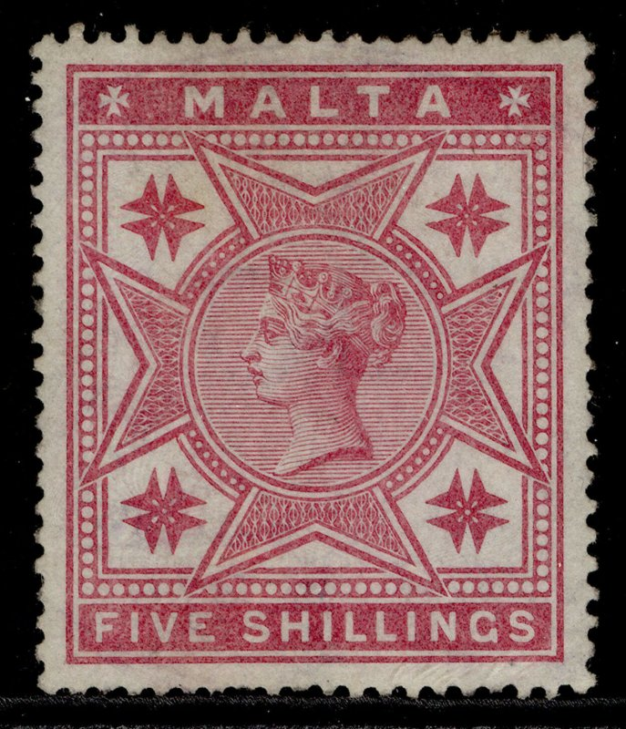 MALTA QV SG30, 5s rose, M MINT. Cat £110.