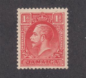 Jamaica Sc 103 MLH. 1929 1p red KGV definitive, type I, F-VF