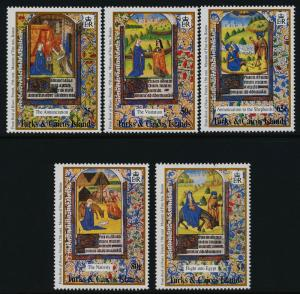 Turks & Caicos 1084-9 MNH Christmas, Illustrations from French Book of Hours