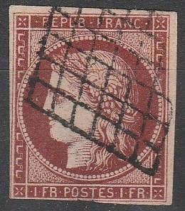 France #9b Fine Used CV $1100.00 (D1105)