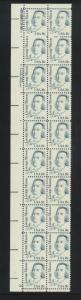 #1858 MNH Plate block strip of 20.