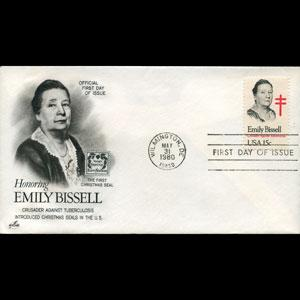 U.S.A. 1980 - FDC-Emily Bissell