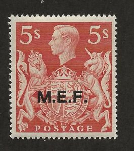 GREAT BRITAIN - MIDDLE EAST FORCES SC# 14  FVF/MLH 1947