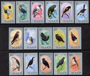 St Lucia 1976 Birds definitive set of 16 values complete ...