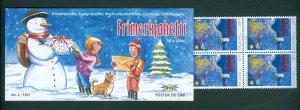 Iceland. 1992 Booklet Christmas Mnh 10 x 30 Kr. Snowman, Children, Dog. Sc# 760