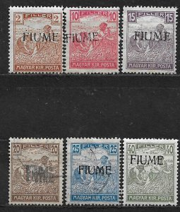 COLLECTION LOT OF 6 FIUME 1918 STAMPS CV+ $132 ALL CONDITIONS 2 SCAN