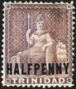 TRINIDAD-1879-82 ½d Mauve Sg 99 MOUNTED MINT V48581