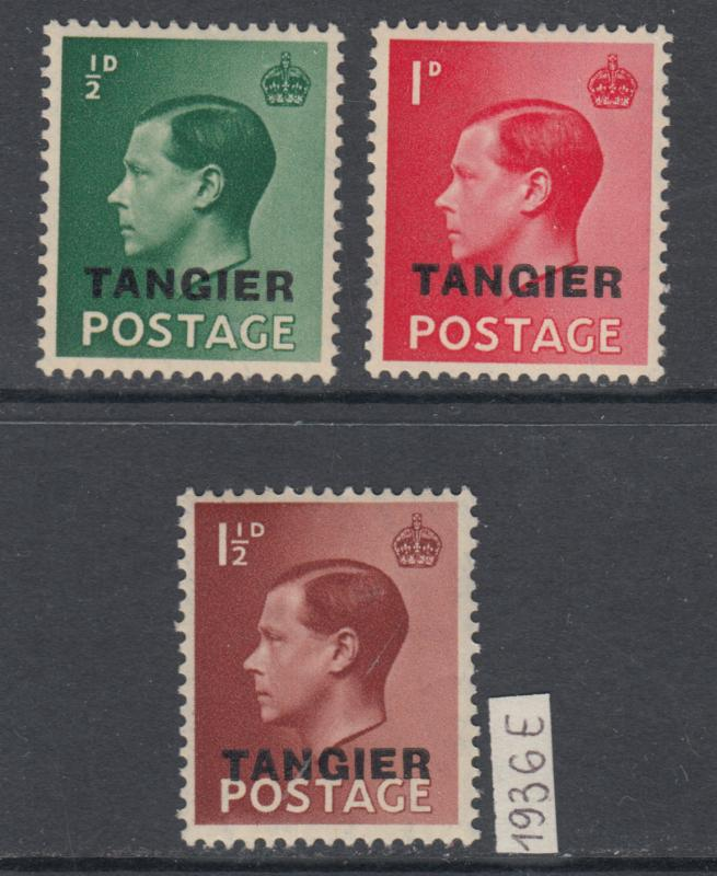 XG-X943 MOROCCO AGENCIES - Tangier, 1936 Definitives, 3 Values MNH Set