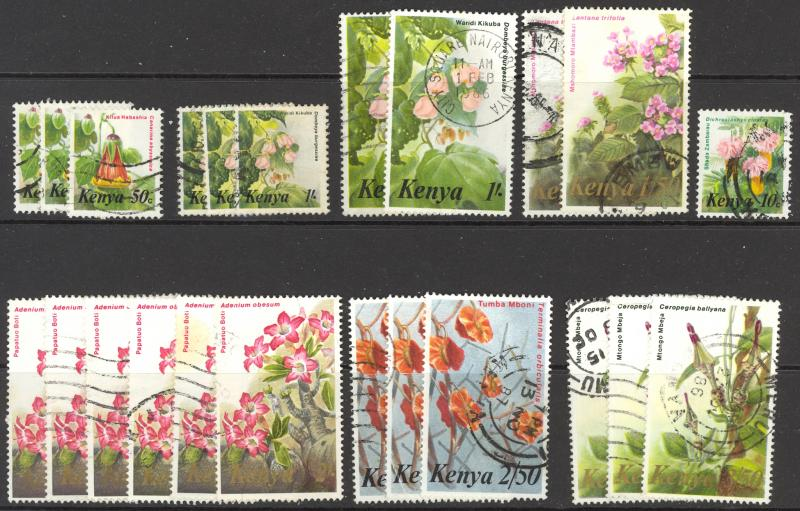 Kenya Sc# 247-257 (Assorted) Used Lot/23 1983 Flowers