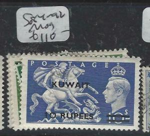 KUWAIT   (P2804B) ON   GB  KGVI  SET TO 10R  SG 84-92   MOG