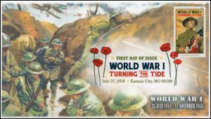 18-210, 2018, World War I, Turning the Tide, DCP, First Day Cover