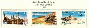EGYPT Scott C146-148  Used  airmail set