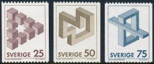Sweden 1982 Impossible Figures Set of 3 SG1105-1107 MNH 2