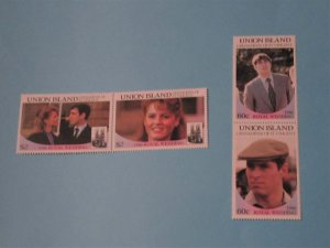 Union Islands - 228-29, MNH Set in Pairs. Royal Wedding. SCV - $2.00