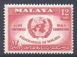 Malaya Federation Scott 81 - SG2, 1957 Arms 12c MH*