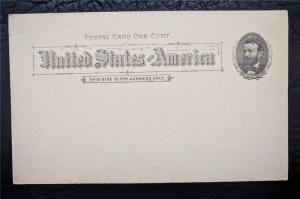 US Stamps Mint Preprinted Postal Card UX10 Grant 1891 Piano Tuner Advertisement