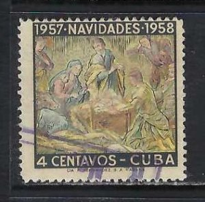 CUBA 589 VFU CHRISTMAS H431-5