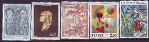 J20180  jlstamps 1975 france mnh set #1464-8 art
