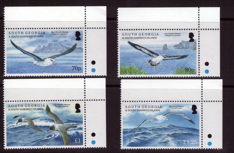 South Georgia QEII Albatrosses set  marginal set MNH