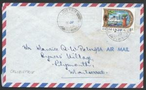 DOMINICA 1970 airmail cover to Montserrat - CALIBISTRIE cds, JY in Mss.....50262