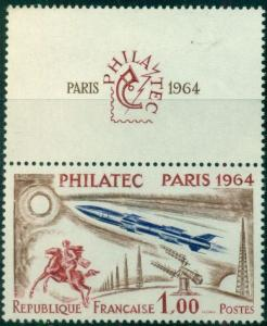 FRANCE #1100 Philatec 1fr, og, NH, VF, Scott $17.50