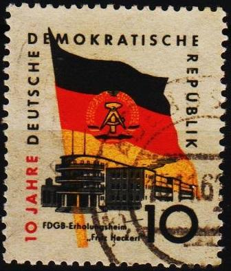 Germany(DDR).1959 10pf S.G.E456 Fine Used