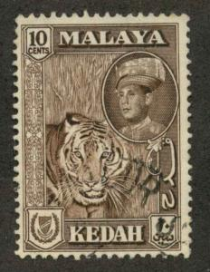 Malaya Kedah 100 Used F-VF