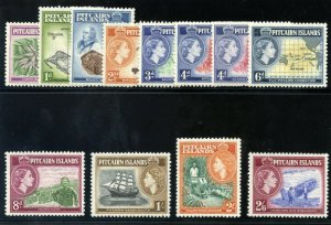 Pitcairn Islands 1957 QEII set complete superb MNH. SG 18-28. Sc 20-31.