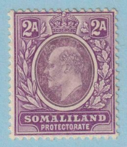 SOMALILAND PROTECTORATE 42a  MINT HINGE REMNANT OG * NO FAULTS VERY FINE !