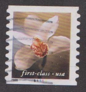 US #3464 Flowers Used PNC Single plate #B1111