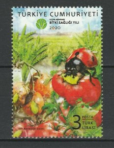 Turkey 2020 Insects MNH stamp