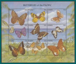 Nauru 2002 Butterflies, Sheetlet, MNH 497,SG536a