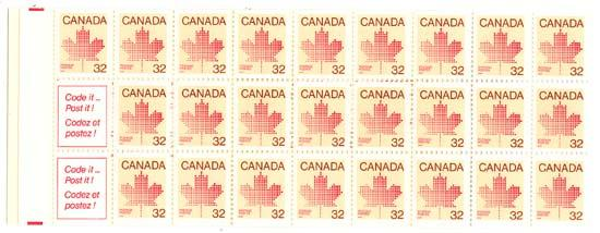 Canada - 1983 32c Maple Leaf Complete Booklet #BK85a