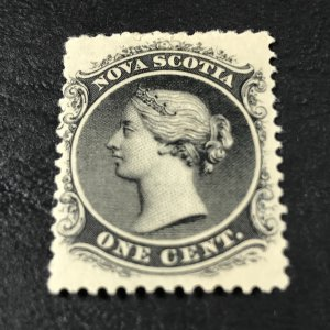 NOVA SCOTIA # 8-MINT/HINGED-----BLACK------1860-63