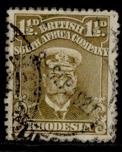 RHODESIA GV SG199, 1½d drab-brown, FINE USED.