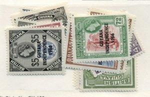 GUYANA #7-19, Mint Hinged, Scott $18.28