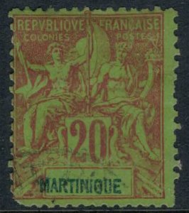 Martinique #42  CV $10.00