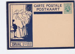 belgium vintage unused orval  stamps card ref r15442