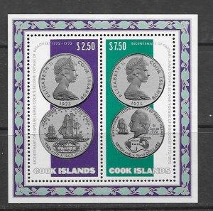 Cook Islands 407a MNH s/s, vf, see desc. 2020 CV$ 37.50