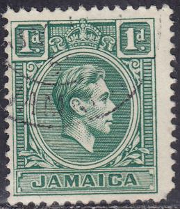Jamaica 149 USED 1951 King George VI 1d