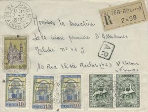 Algeria 1d Sidi-Okba Mosque (3), 40c Ketchaoua Mosque and 10c Abd-el-Kader (2...