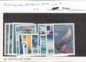 J26293  jlstamps 1973 australia a.a.t. set mnh #L23-34 food chain
